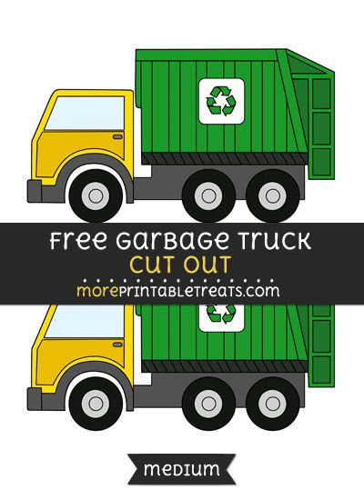 Free Garbage Truck Cut Out