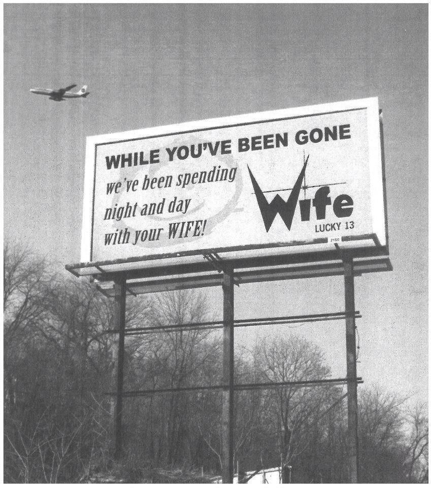 Classic billboard ad for WIFE Lucky 13 radio in Indianapolis ...