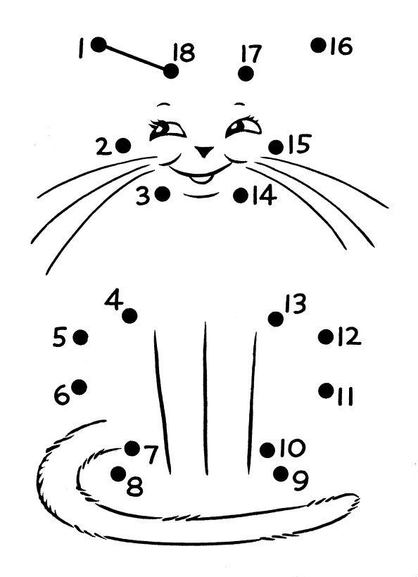 dot to dot cat worksheet crafts and worksheets for preschool