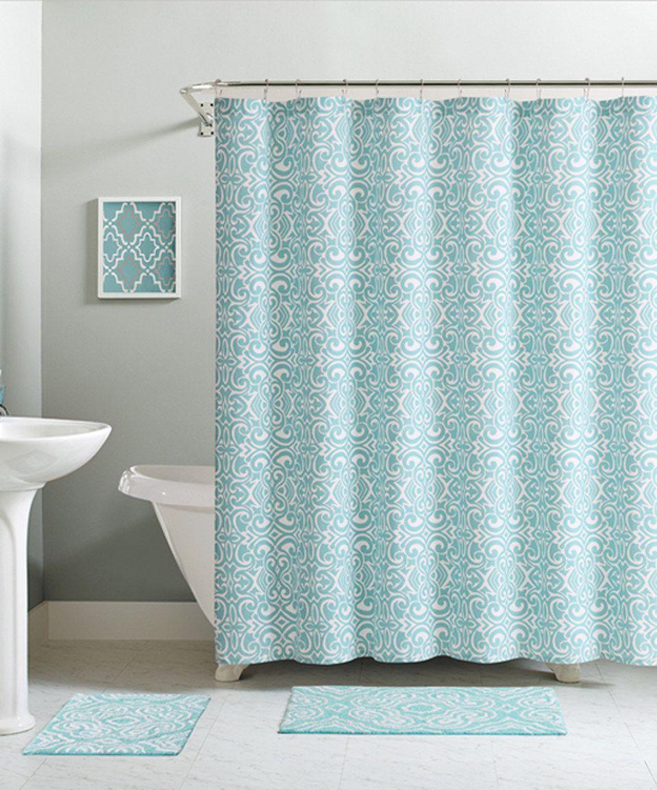 Love this aqua essex shower curtain hooks u bath rug set by
