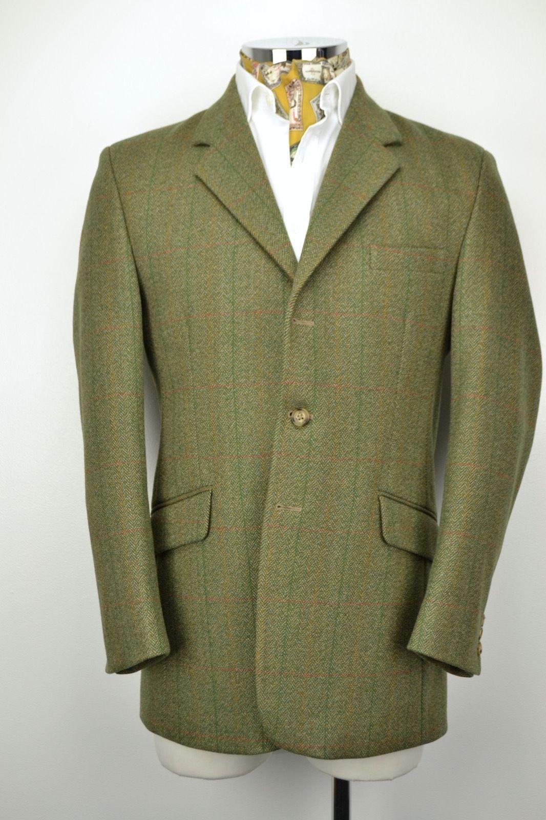 """Holden Tailored 3 Button Herringbone Tweed Jacket 40"""" Regular Windowpane Check   eBay"""