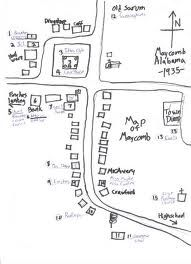 To Kill A Mockingbird Map Of Maycomb : mockingbird, maycomb, Maycomb,, Alabama, Ideas, Alabama,, Mockingbird,, Radley