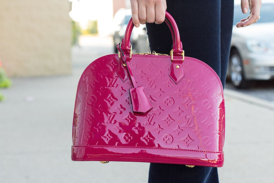b3a310c3273b Louis Vuitton Vernis Alma PM Indian Rose. My purse except I have the bigger  one