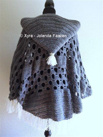 Patr1032 Omslagdoek Haakpatroon Patroon Haken Gehaakt Crochet