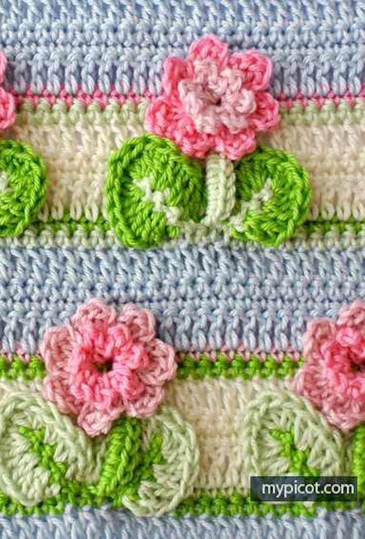 Learn A New Crochet Stitch: 3D Crochet Flower Stitch | Stricken ...