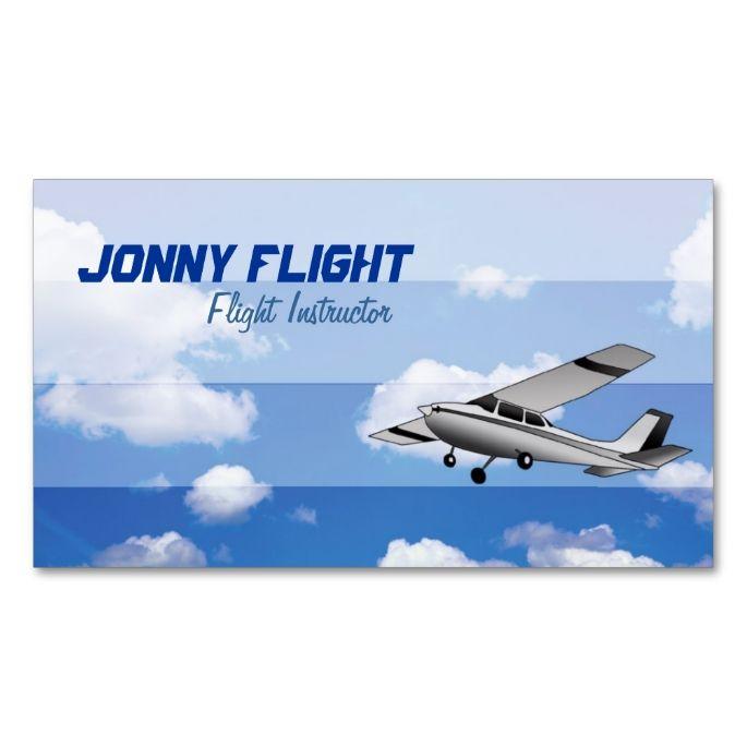 Flight Instructor Business Cards Zazzle
