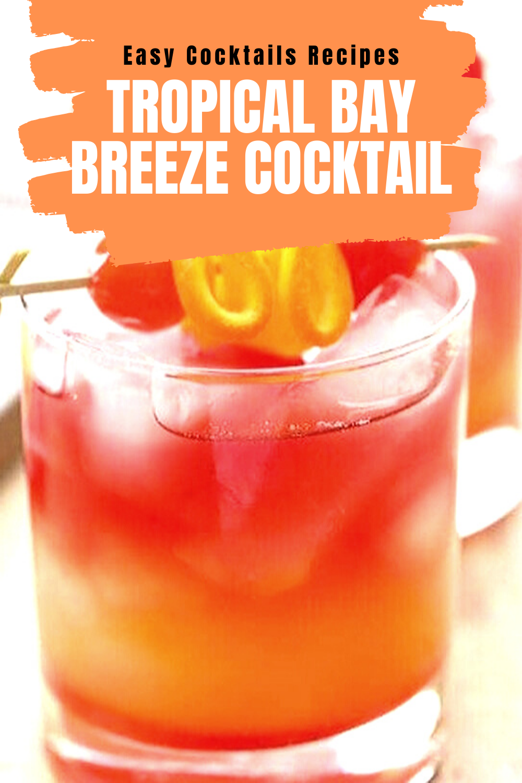 Easy Cocktails Recipes Tropical Bay Breeze Cocktail In 2020 Cocktail Recipes Easy Easy Cocktails Cocktail Recipes