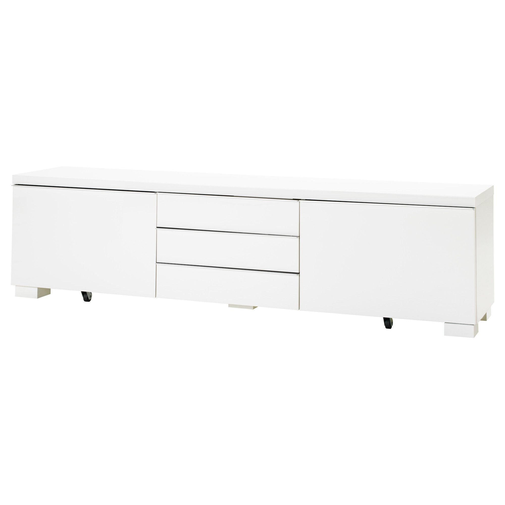 Ikea Bank Accessoires BestÅ Burs Tv Unit High Gloss White
