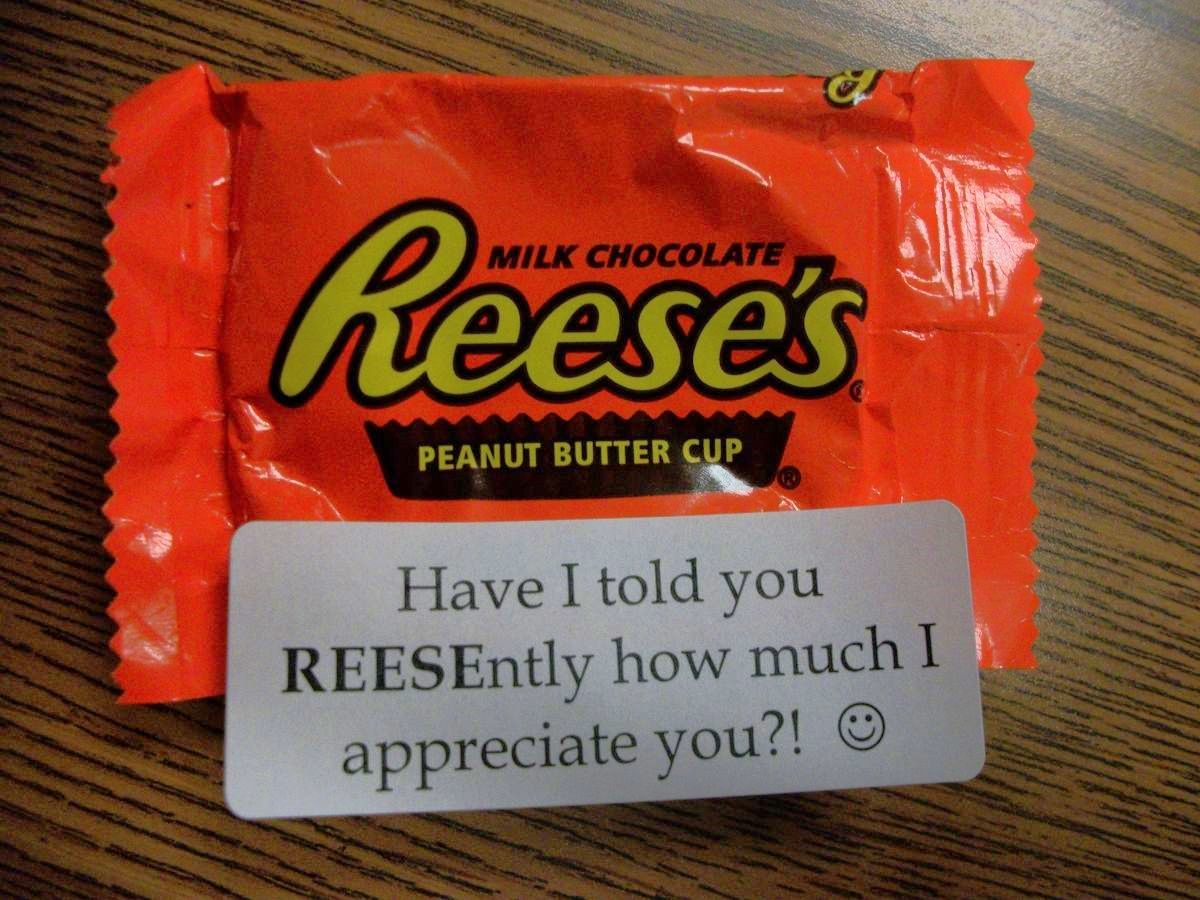A Simple Fun Sized Way To Show Reciation Friend Co Worker Or Neighbor Just Use An Avery Address Label And Print L Stick