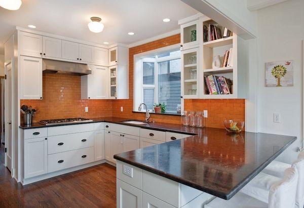 Orange Backsplash Kitchen Google Search