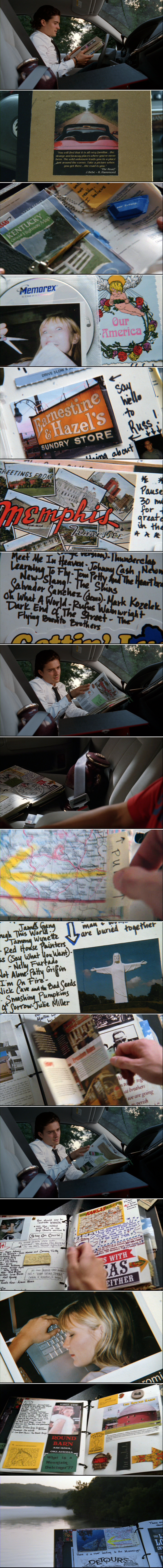 Best DIY travel guide, from the movie Elizabethtown.