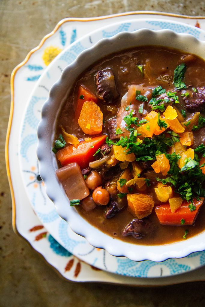 Lamb, Chickpea and Apricot Stew
