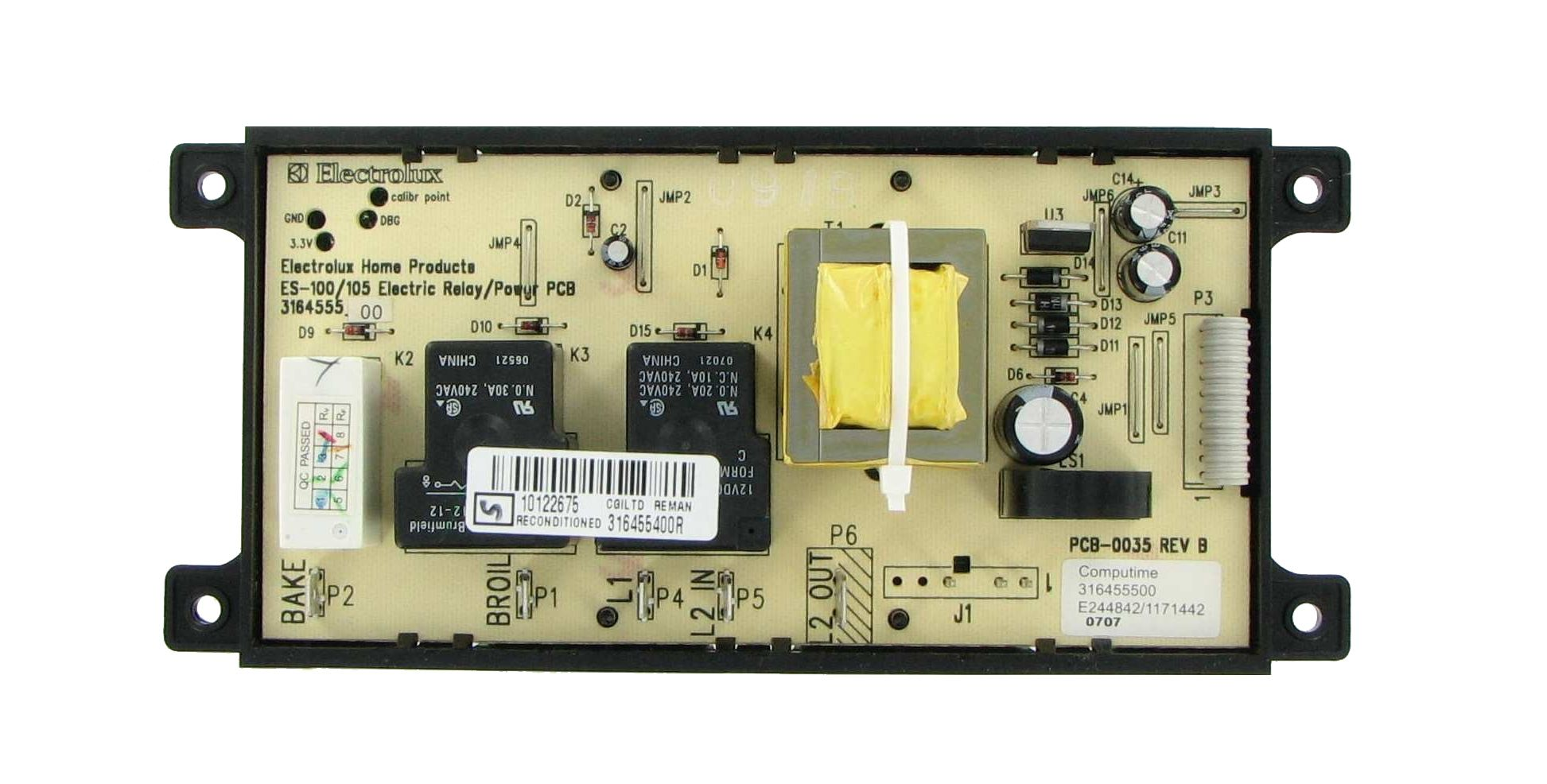 Frigidaire Crosley Gibson 316455400 Range Oven Control Board And Clock Kenmore Range Frigidaire Timer Clock