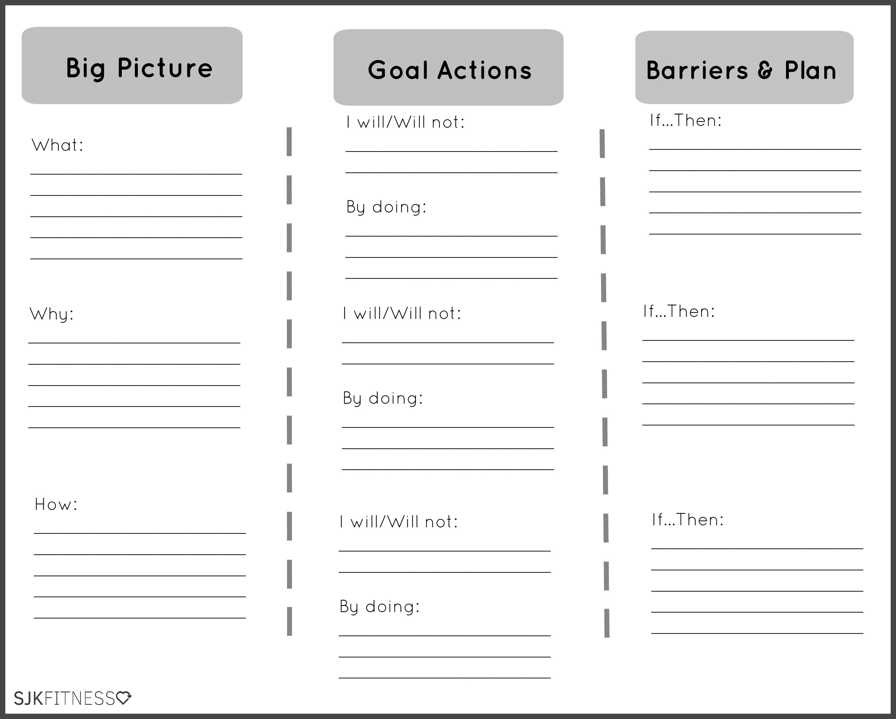 Health Coaching Goals Worksheet
