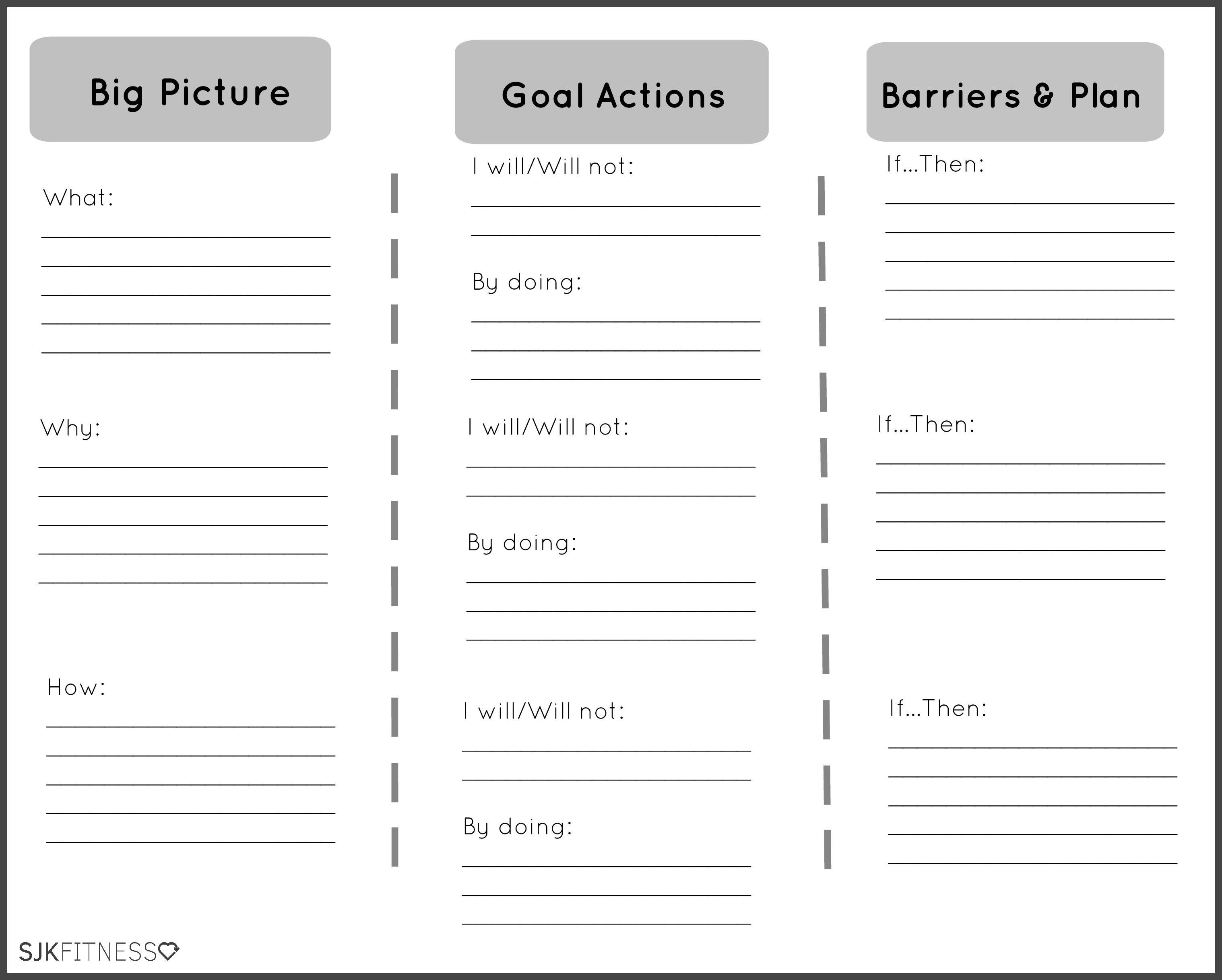 Health Coaching Goals Worksheet