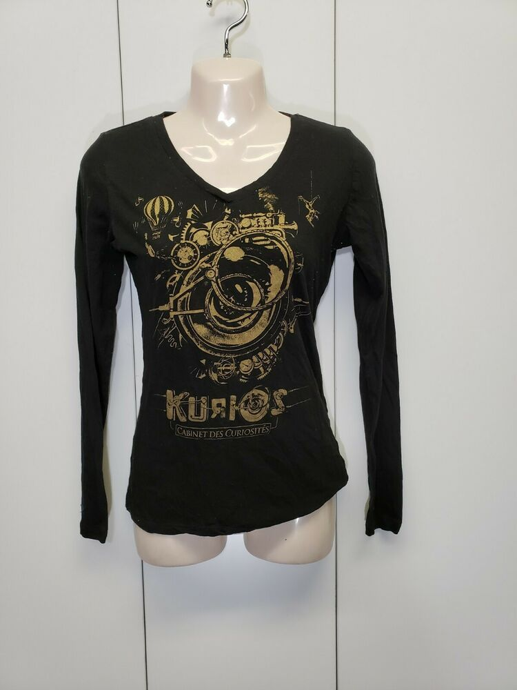 Kids Soft Cotton T Shirt Cirque-Du-Soleil Stylish Crewneck Short Sleeve Tops Black