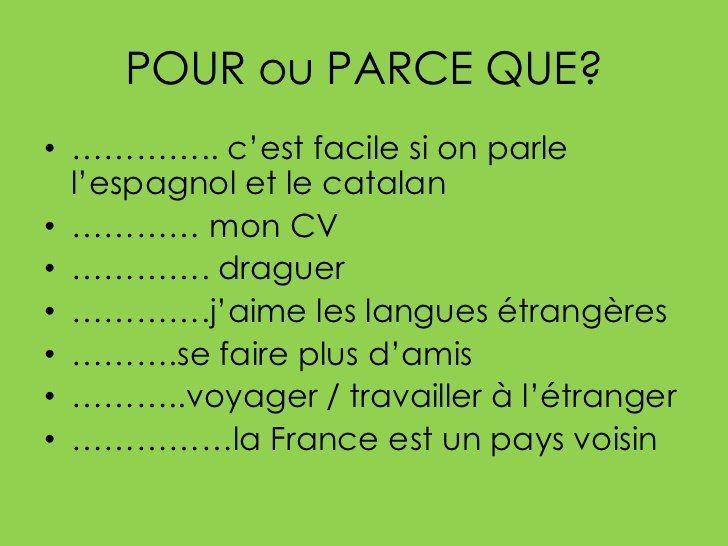 Epingle Par Parlefr Sur Fle Grammaire Le Cv Langues Etrangeres Fle