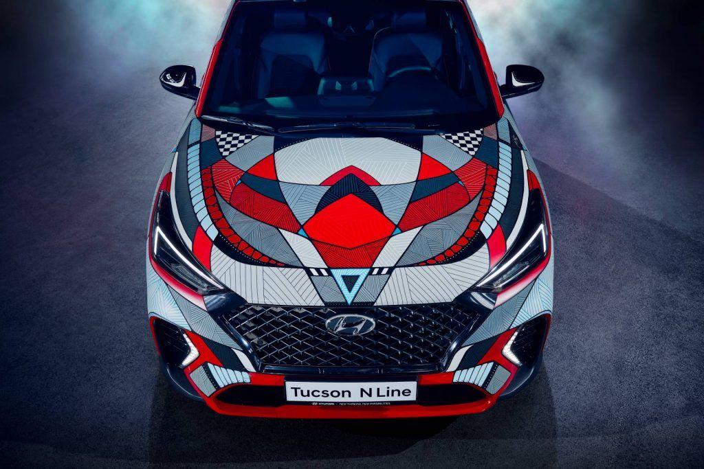 Hyundai Marks Tucson N Line Launch With Drive A Statement Art Car In 2020 Tucson Suv Hyundai Car Art