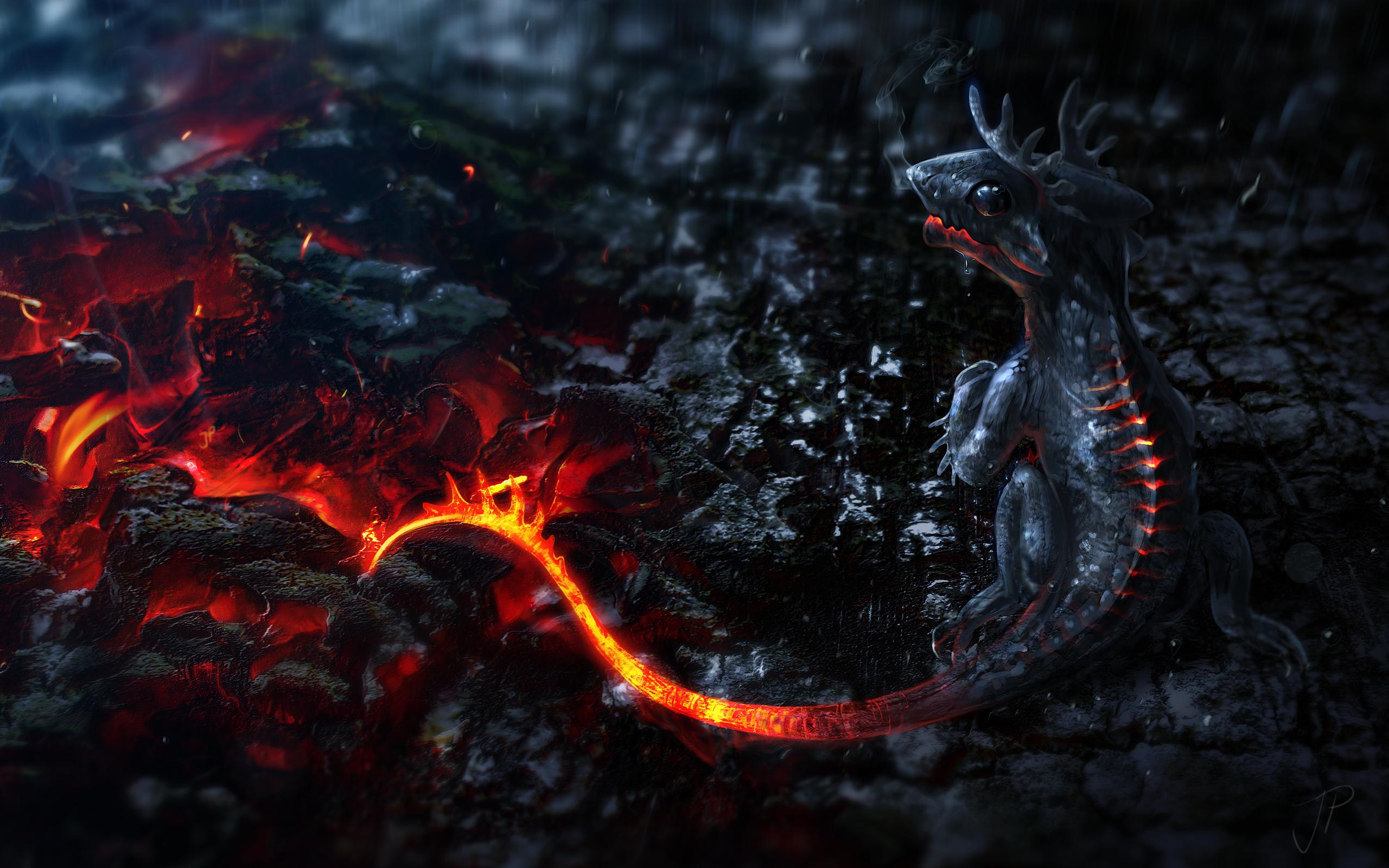 Fire Lava Dragon Wallpaper