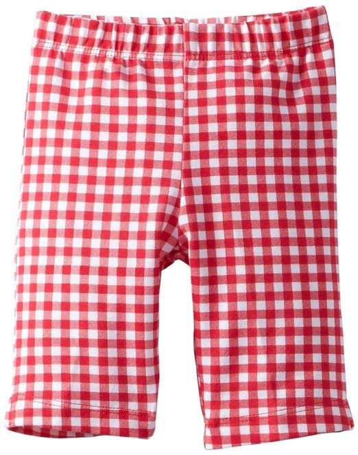Flap Happy Baby-Girls Infant Capri Legging, Red Gingham, 12 Months