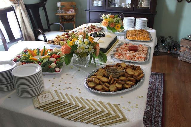 Happy Canadian Home: Buffet-style table for Golden ...