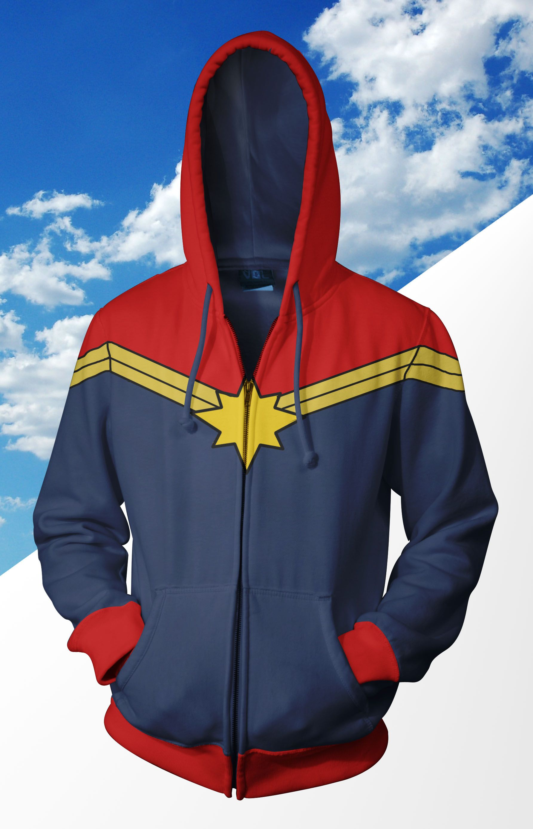 captain marvel zip up