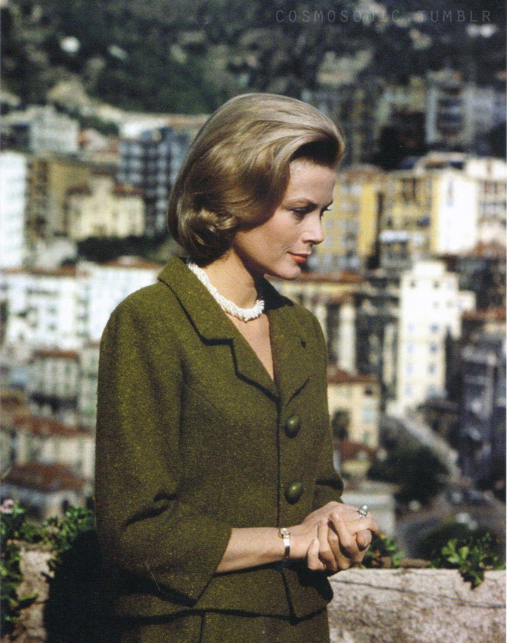 Grace in Balenciaga - the suit belongs to Princess Caroline now...
