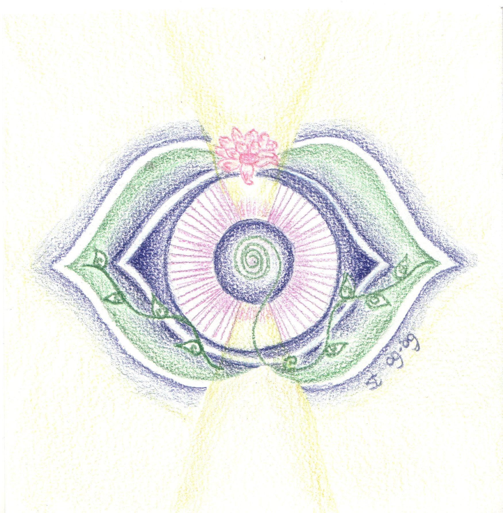 Iets Nieuws 6e chakra - het derde oog chakra | Zentangle en mandala's &ZX45