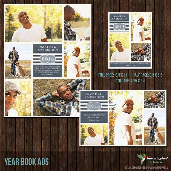 senior yearbook ad templates free - instant download yearbook ad templates 3 by