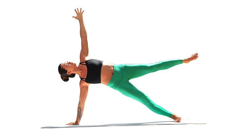 Two Fit Moms In Star Side Plank Cool Yoga Poses Yoga Poses Names Yoga Poses