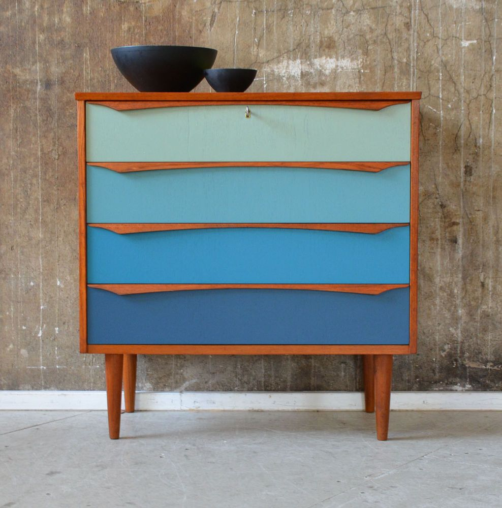 60er teak kommode danish design 60s teakwood cabinet sideboard finn juhl ra resopal. Black Bedroom Furniture Sets. Home Design Ideas