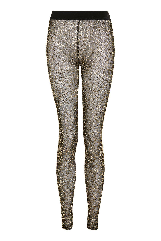 2a16848d709d82 **Black N Gold Glitter Mesh Leggings by Jaded London - Trousers & Leggings -
