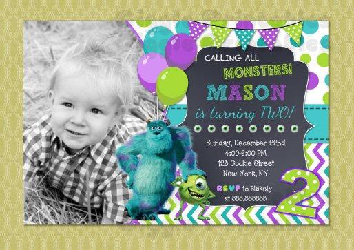 Monster Inc Invitation Monster Inc Birthday Invitation Monster