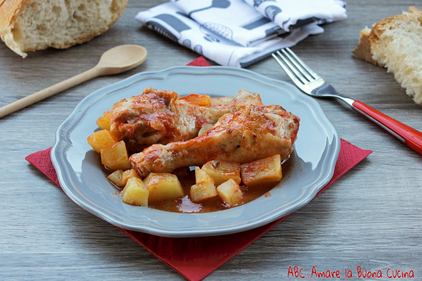 Photo of Stewed chicken legs with potatoes – recipe with and without bim …