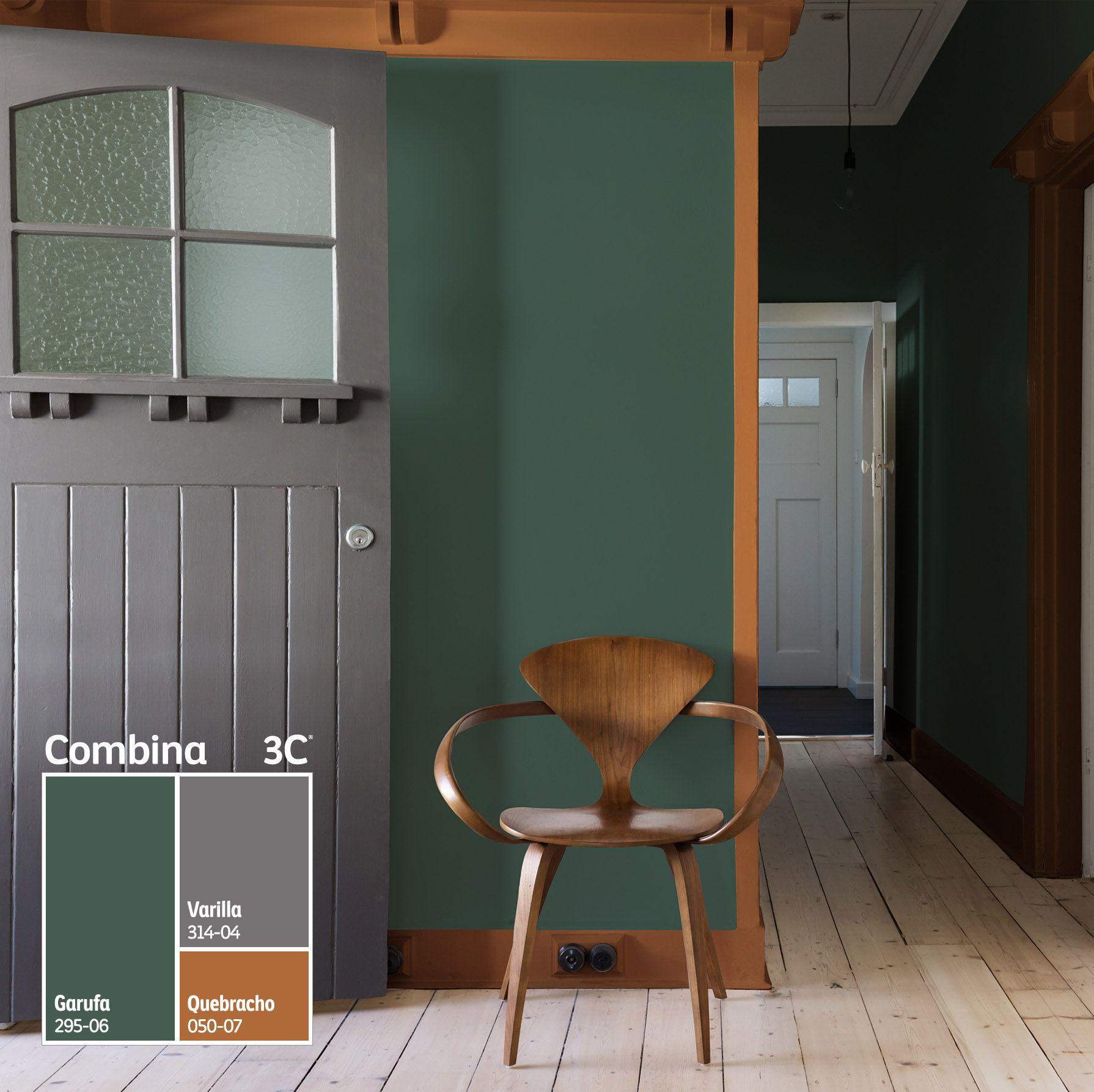 Un verde oscuro perfecto para crear espacios sobrios y elegantes. Te ...