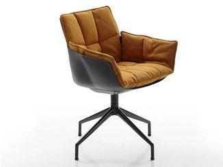 Sedia Imbottita Con Braccioli : Sedia imbottita su trespolo in tessuto con braccioli husk sedia