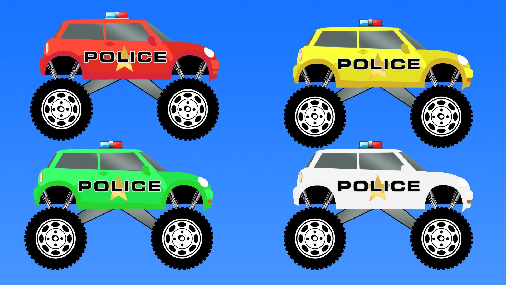 Coloring Police Monster Truck Learning Colors Names With Police Car Video For Kids Learning Colors Kids Nursery Rhymes Police Car Videos