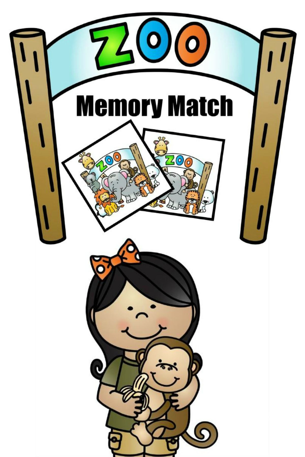 Free Printable Zoo Memory Match Game Zoo crafts, Zoo