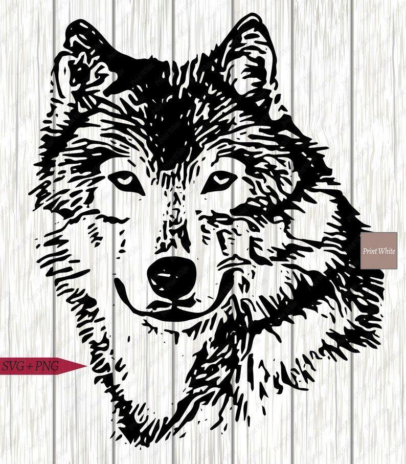 Wolf Kopf Svg Dxf Bundle Wolf Portrait Svg Set Wolf