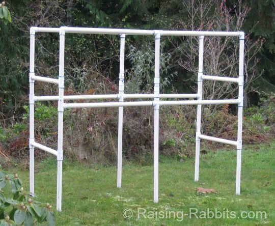 Build a rabbit hutch with a pvc frame for durability and for How to make a rabbit hutch from scratch