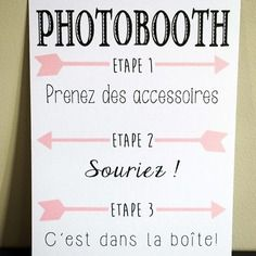 affiche photobooth fl ch weddings in my head pinterest affiches anniversaires et mariages. Black Bedroom Furniture Sets. Home Design Ideas