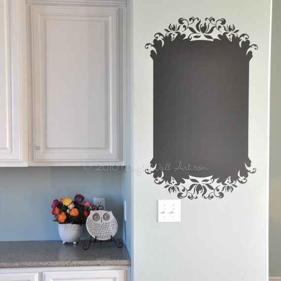 15 Whimsical Kitchen Designs With Chalkboard Wall: Vinyl Wall Decal On Etsy, $15.00... Do It In A Cupboard