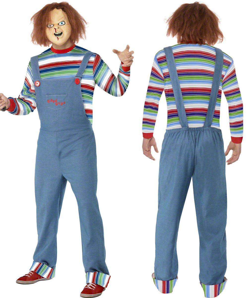 Adults Chucky Mask Wig Mens Ladies Killer Doll Halloween Horror Fancy Dress