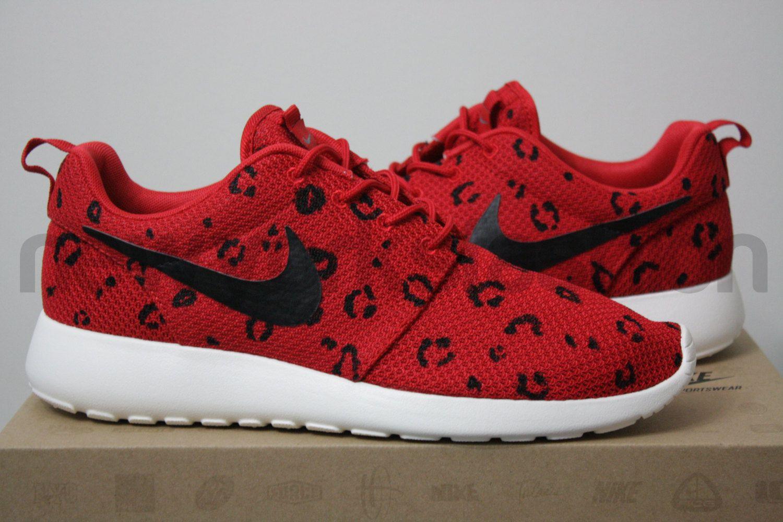 6f02da286c121 ... where can i buy items similar to nike roshe run sport red leopard print custom  men