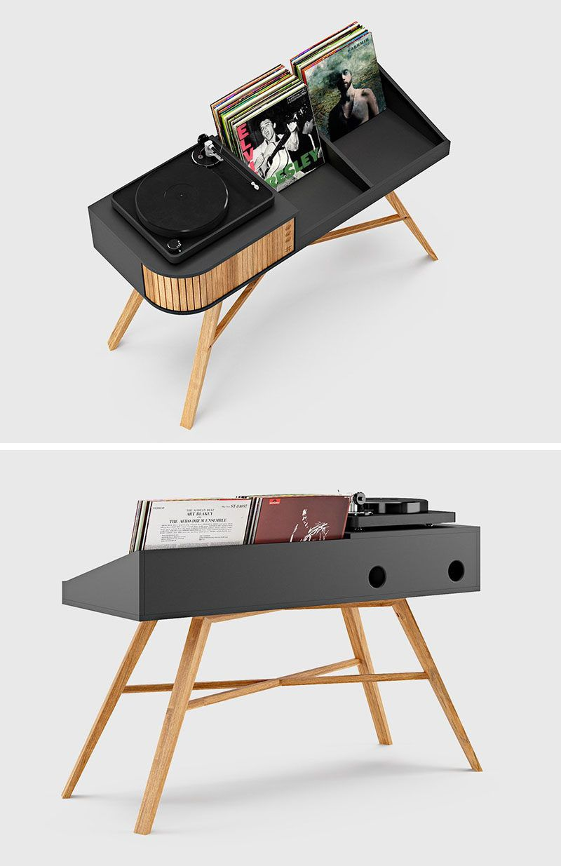 Furniture Designed To Provide A Space For A Turntable And Display Your Vinyl Record Collection Vinyl Record Collection Vinyl Record Furniture Vinyl Record Storage Diy