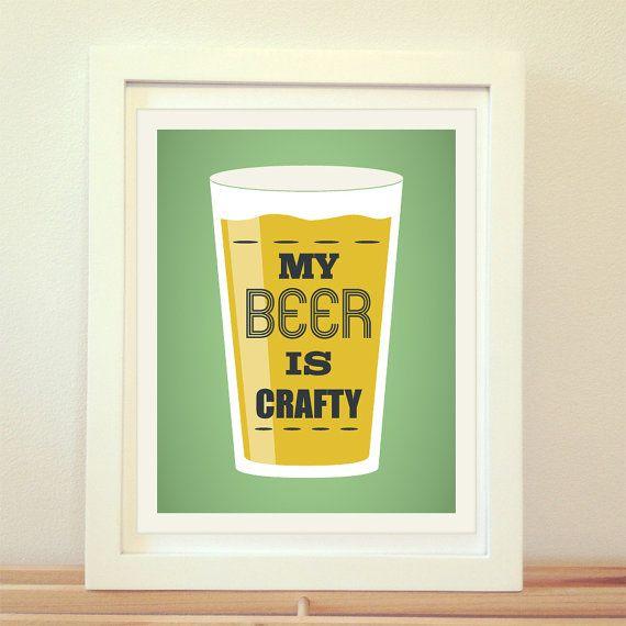 My Beer Crafty, Beer Print, Beer Art, Craft Beer, Home Decor, IPA ...