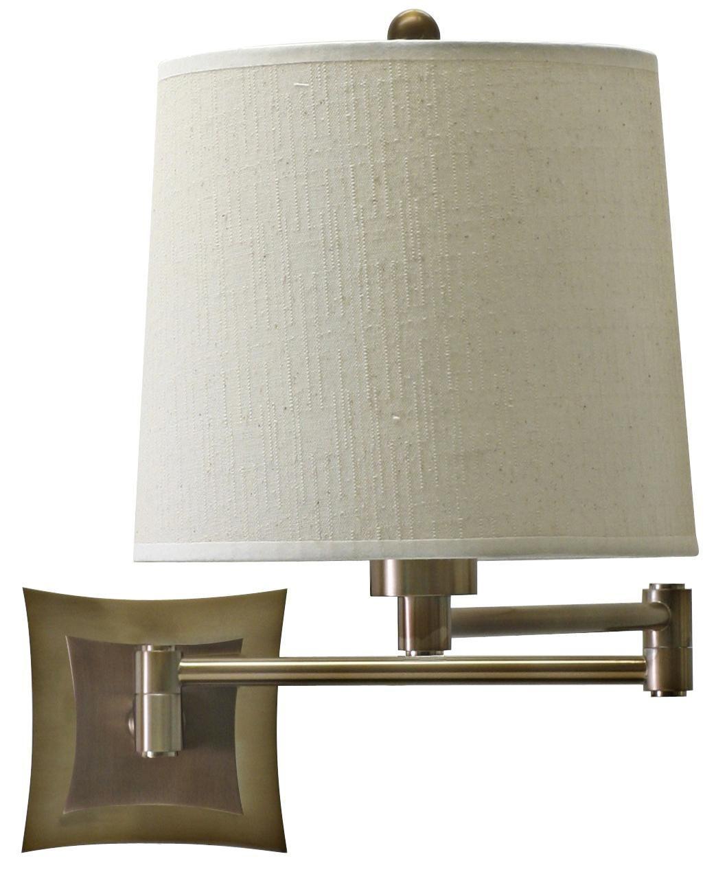 Brass Finish Bi Level Backplate Plug In Swing Arm Wall Lamp House Of Troy Swing Arm Wall Light Swing Arm Wall Lamps