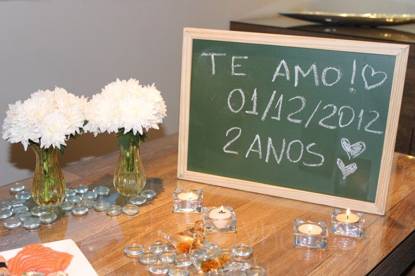 Jantar De Comemoracao De 2 Anos De Casados Com Imagens Vida De