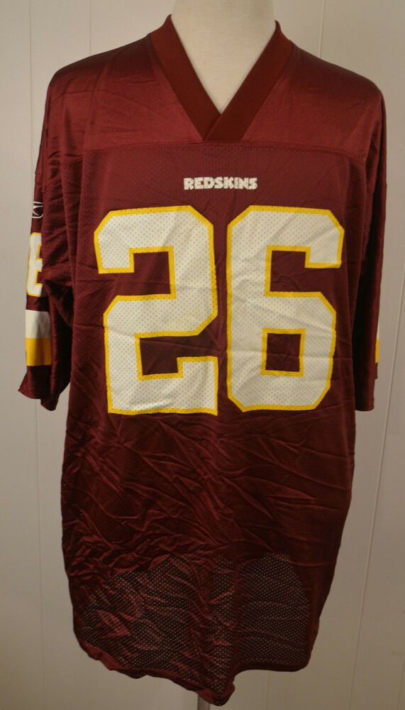 Reebok Washington Redskins Jersey 26 Clinton Portis NFL Replica Adult XXL  2XL Re  Reebok  WashingtonRedskins 6ae983a21
