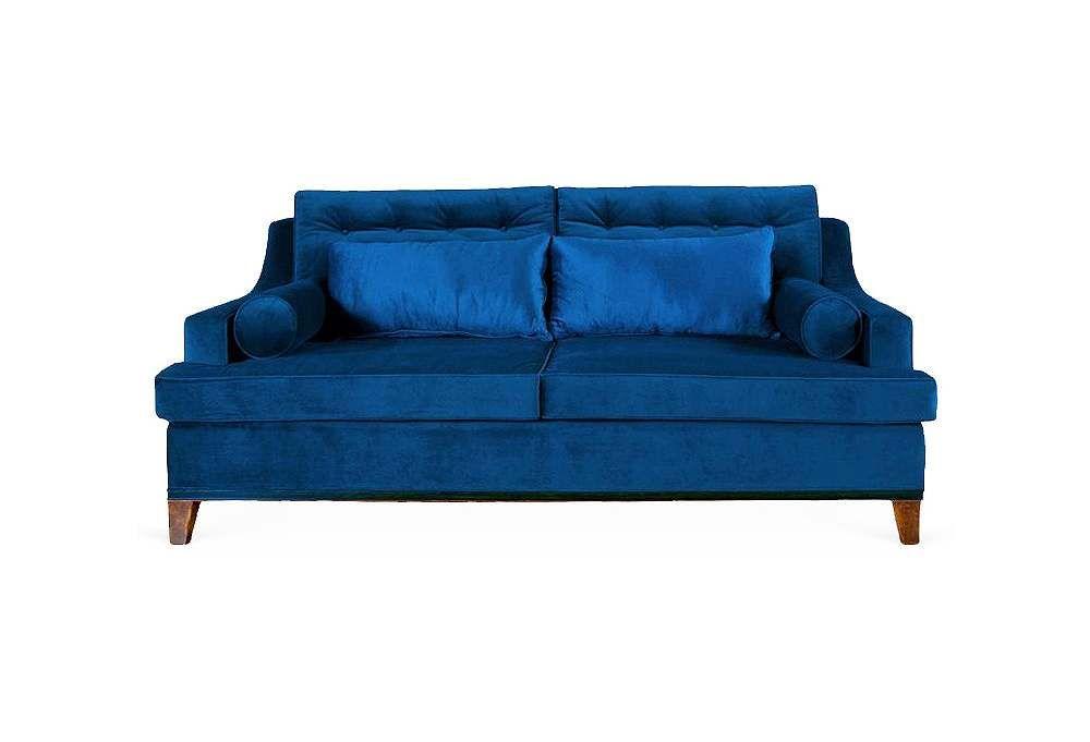 Best Cobalt Blue Velvet Sofa Un Armario Una Mesa Una Silla 400 x 300